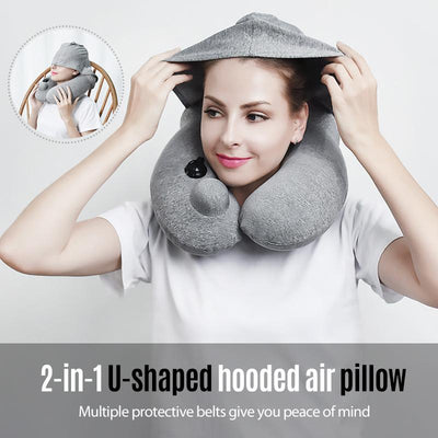 Hooded U-Shaped Pillow