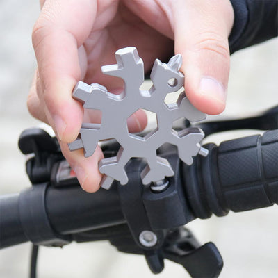 18-in-1 Stainless Steel Snowflakes Multi-Tool(GIFT PACKING)
