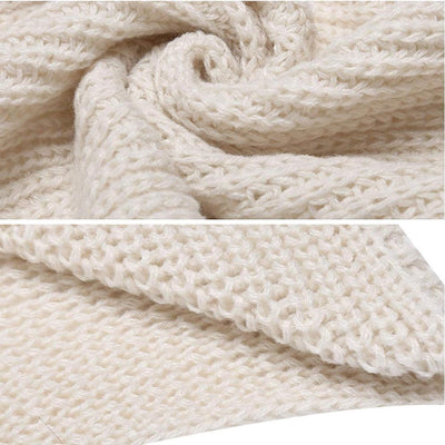 Hirundo Long Crochet Knitted Blanket Shawl