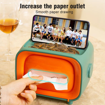 New multifunctional creative cute magnetic plastic tissue box