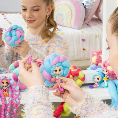 Cotton Candy Hair Dolls(Random Delivery)