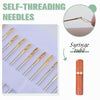 Self-threading Needles
