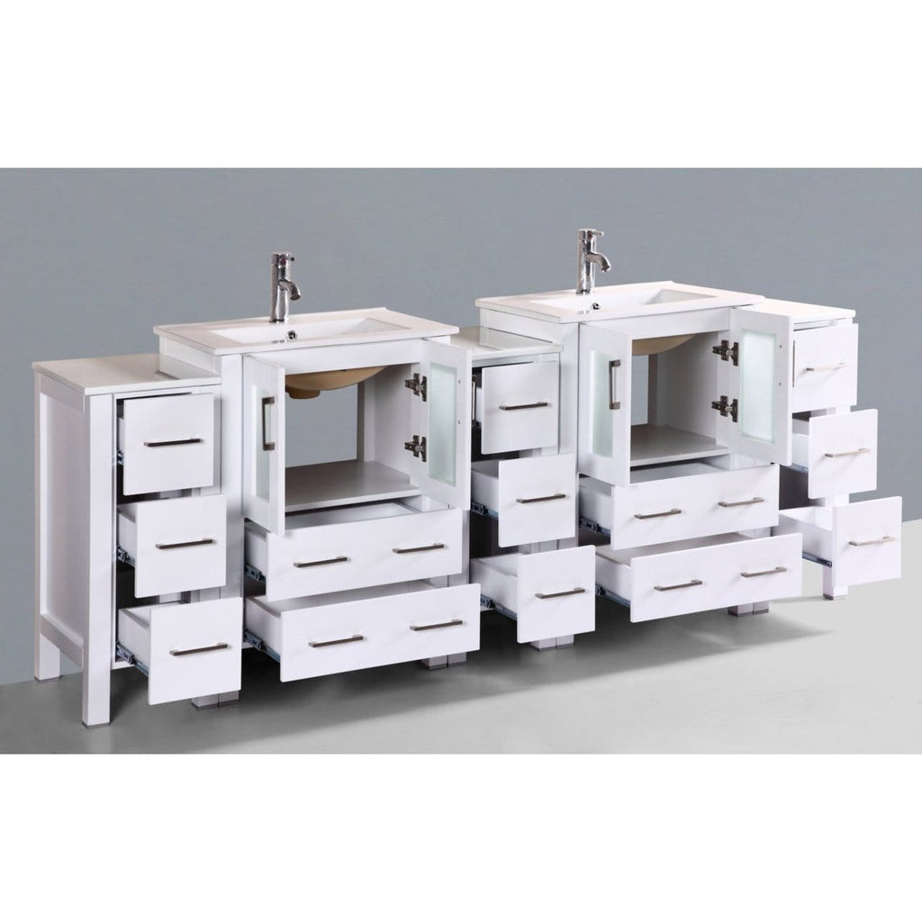 "Bosconi 84"" Double Vanity Bathroom Vanity AW224U3S"
