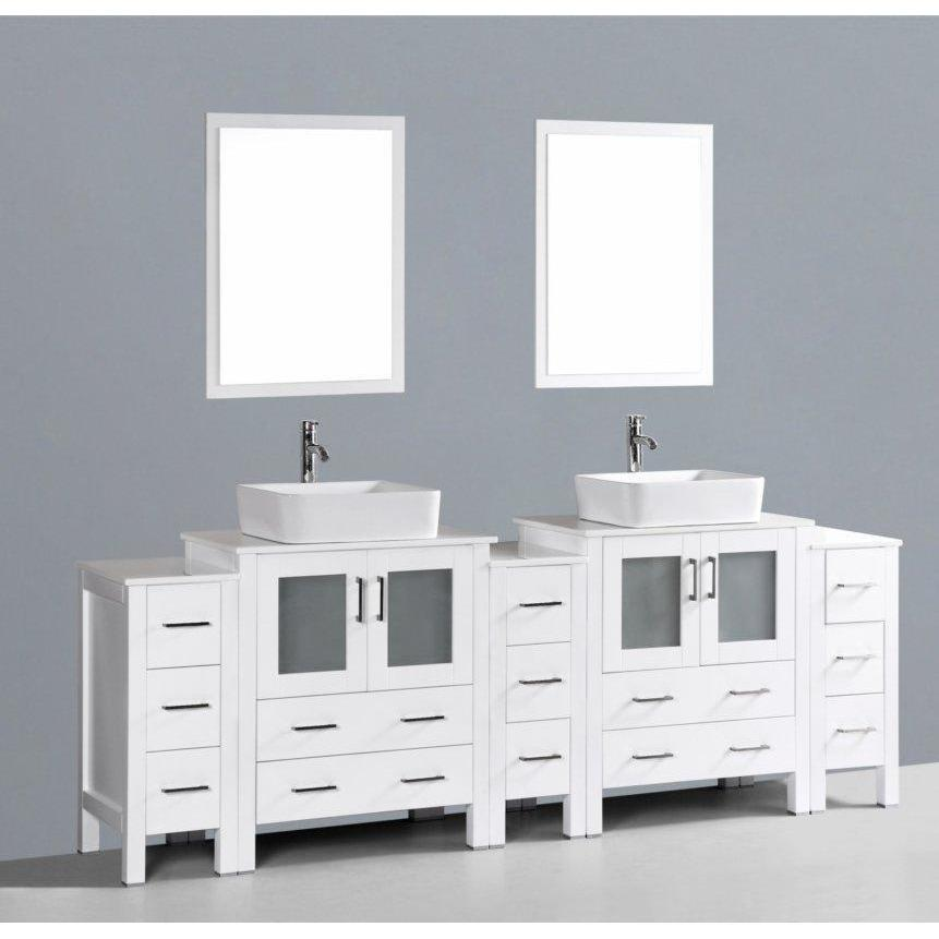 "Bosconi 96"" Double Vanity Bathroom Vanity AW230RC3S"