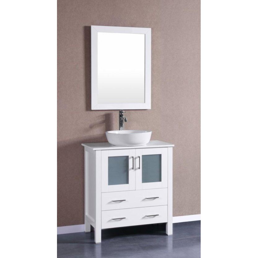 "Bosconi 30"" Single Vanity Bathroom Vanity AW130BWLPS"
