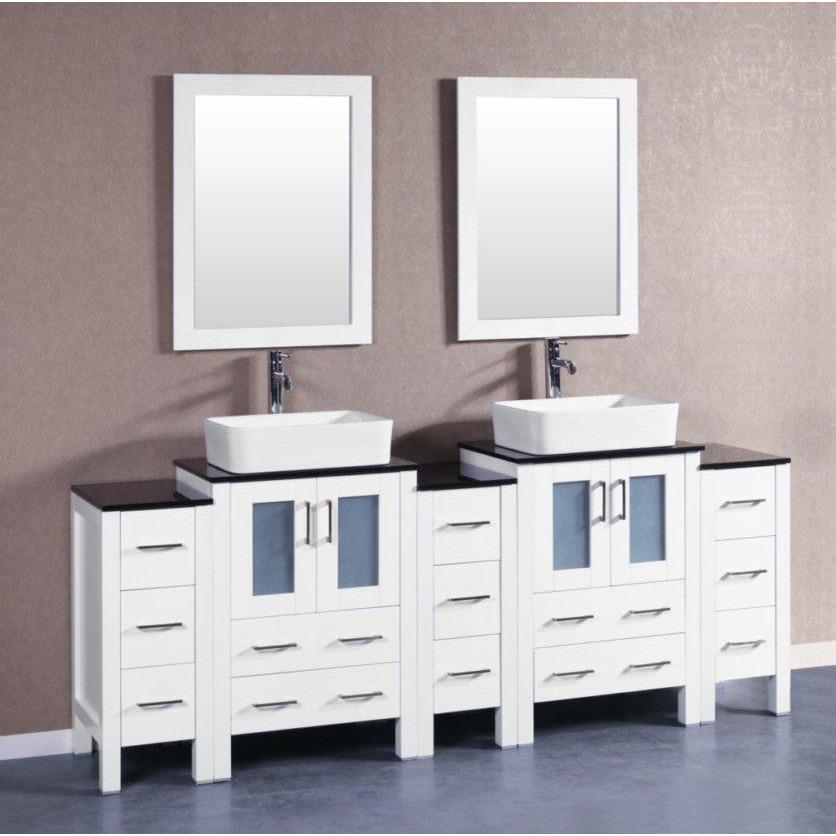 "Bosconi 84"" Double Vanity Bathroom Vanity AW224RCBG3S"