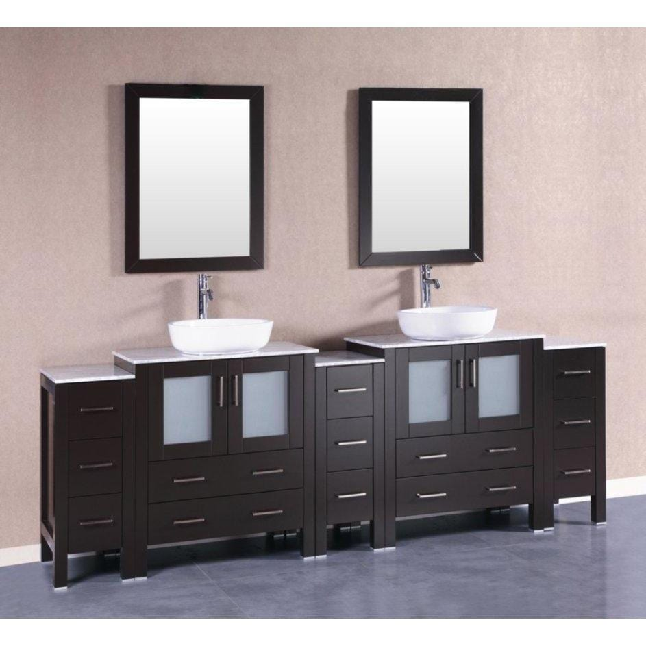 "Bosconi 96"" Double Vanity Bathroom Vanity AB230BWLCM3S"
