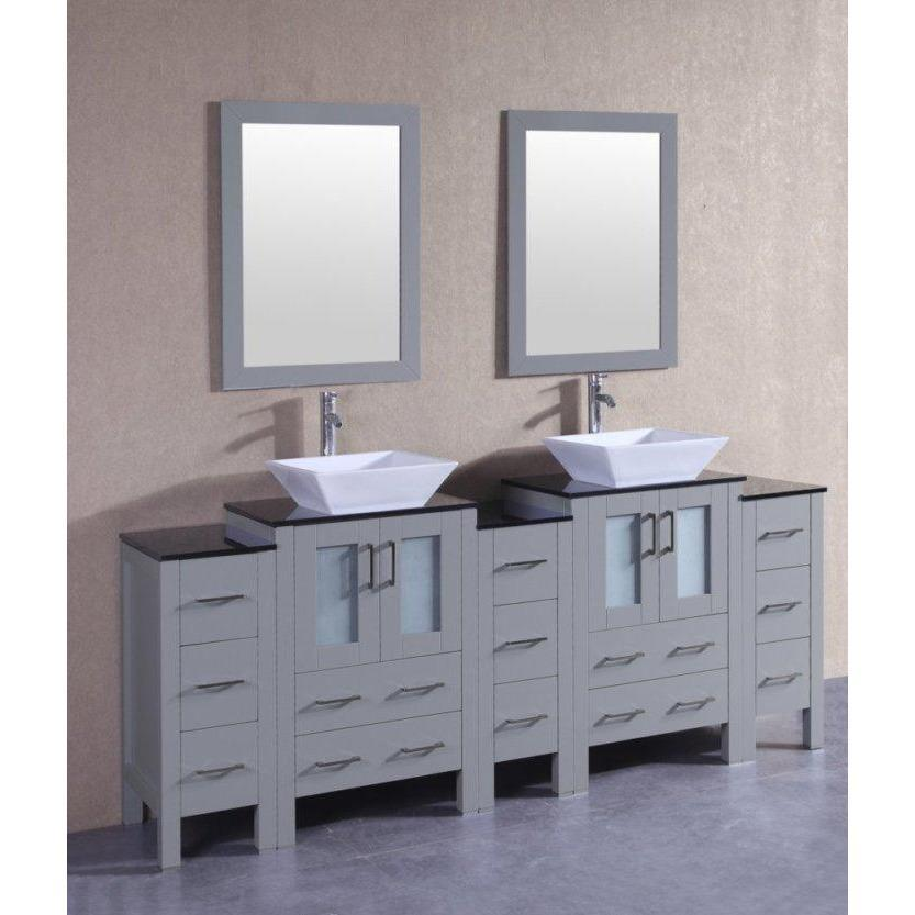 "Bosconi 84"" Double Vanity Bathroom Vanity AGR224SQBG3S"