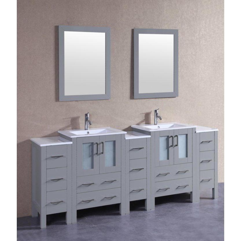 "Bosconi 84"" Double Vanity Bathroom Vanity AGR224U3S"