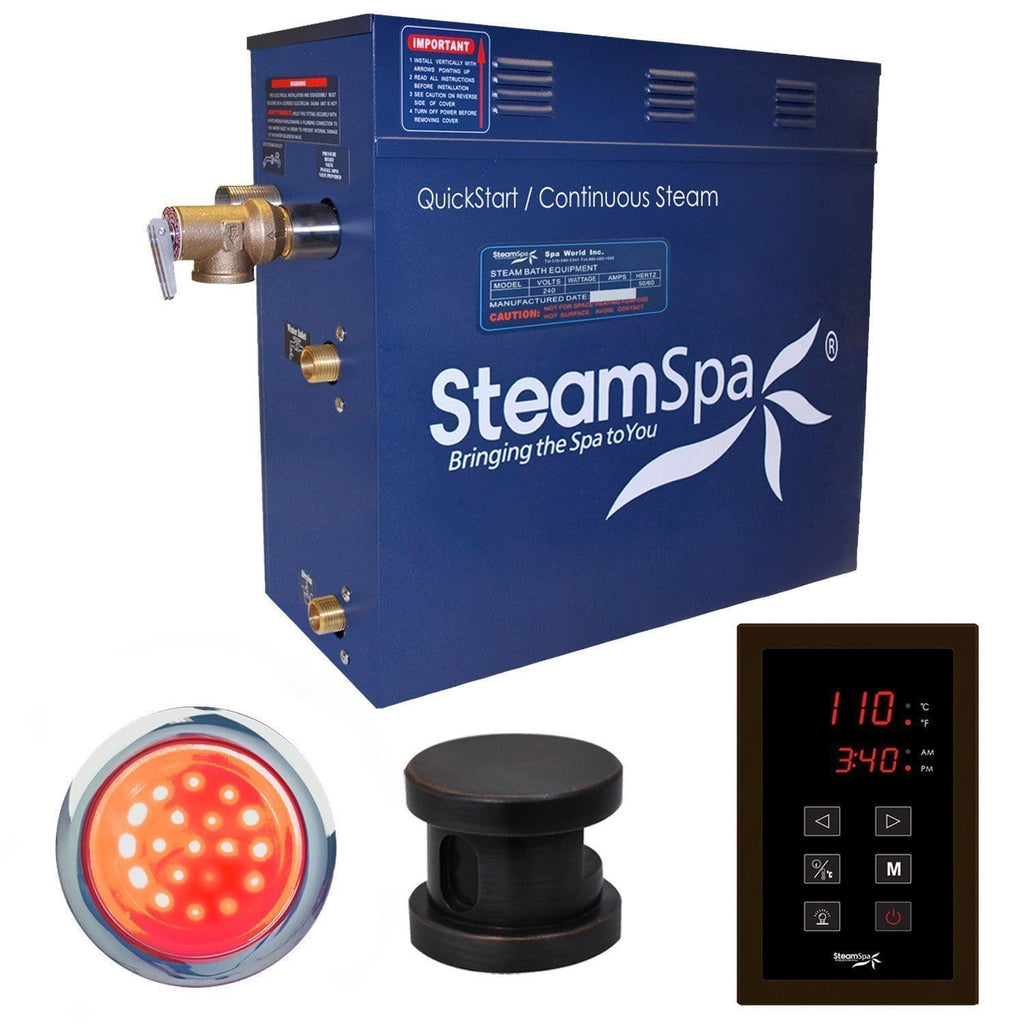 Steam Spa Steam Generators No SteamSpa QuickStart Indulgence 4.5 KW Acu-Steam Bath Generator INT450OB