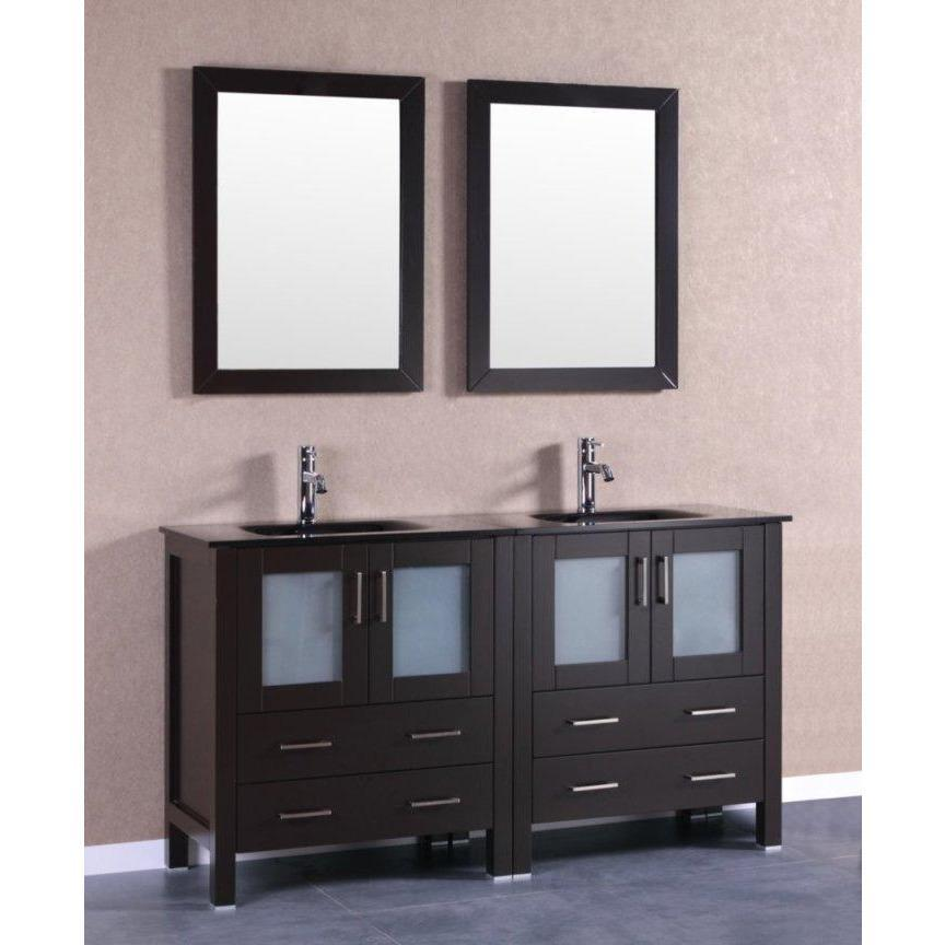 "Bosconi 60"" Double Vanity Bathroom Vanity AB230BGU"