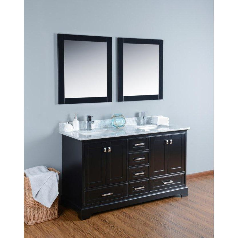 "Bosconi 60"" Double Vanity Bathroom Vanity KBL1060CMU"