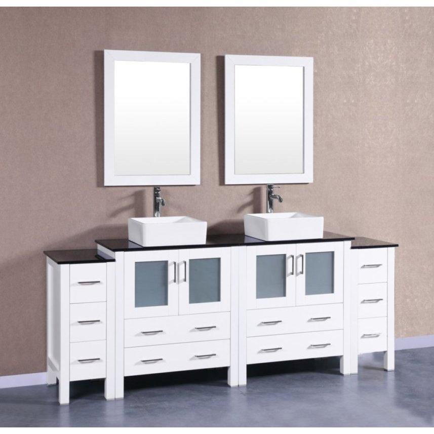 "Bosconi 84"" Double Vanity Bathroom Vanity AW230CBEBG2S"