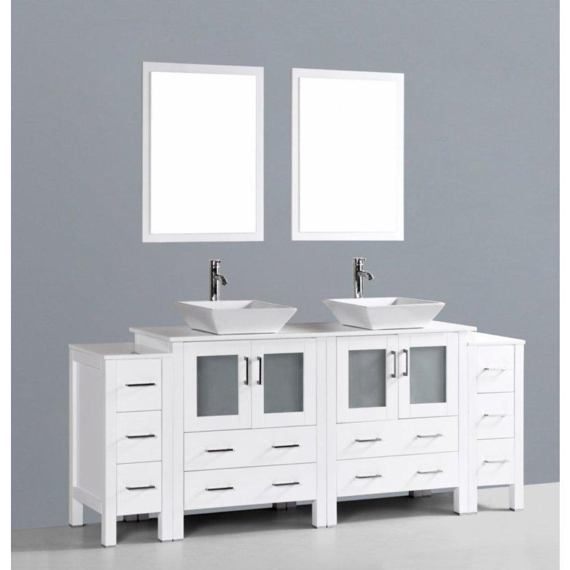 "Bosconi 84"" Double Vanity Bathroom Vanity AW230S2S"