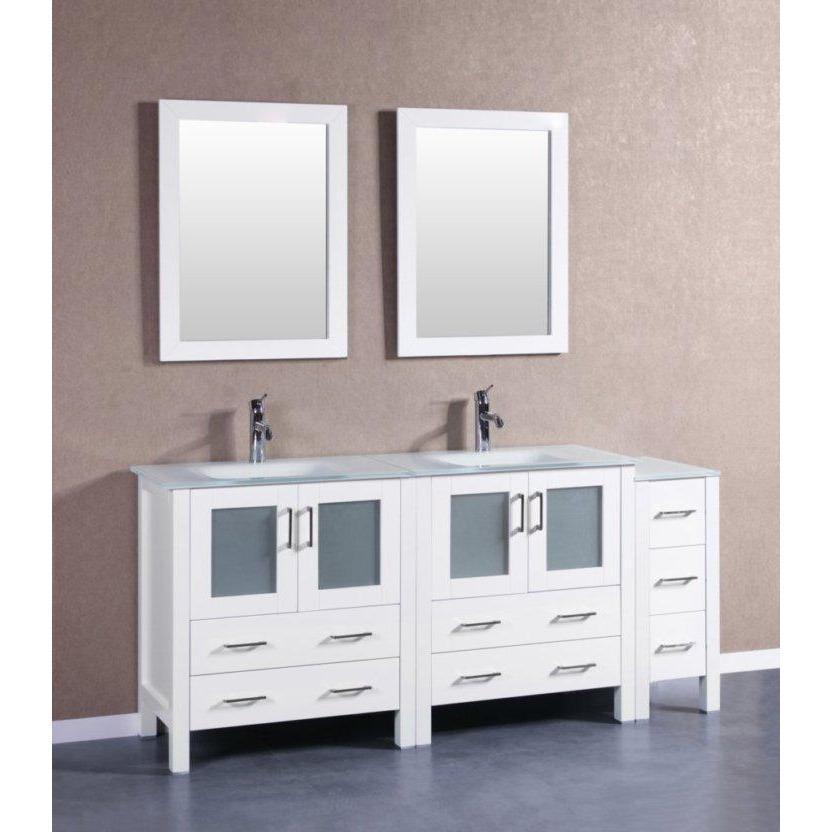 "Bosconi 72"" Double Vanity Bathroom Vanity AW230EWGU1S"