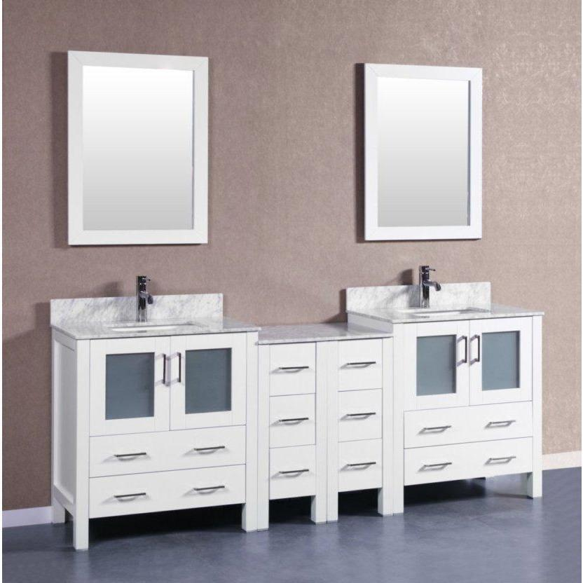 "Bosconi 84"" Double Vanity Bathroom Vanity AW230CMU2S"
