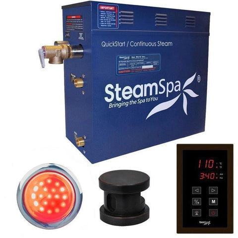 Steam Spa Steam Generators No SteamSpa QuickStart Indulgence 9 KW Acu-Steam Bath Generator INT900OB
