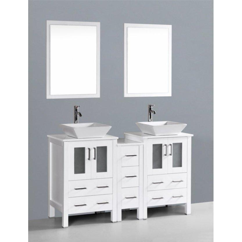 "Bosconi 60"" Double Vanity Bathroom Vanity AW224S1S"