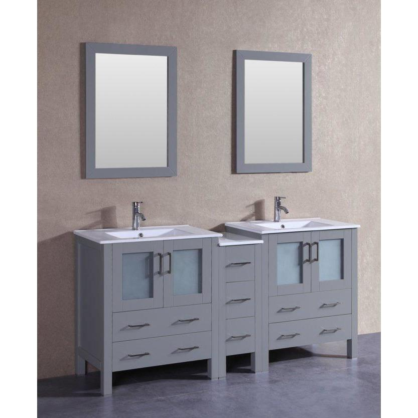 "Bosconi 72"" Double Vanity Bathroom Vanity AGR230U1S"