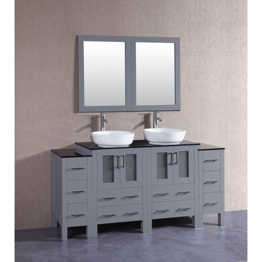 "Bosconi 72"" Double Vanity Bathroom Vanity AGR224BWLBG2S"