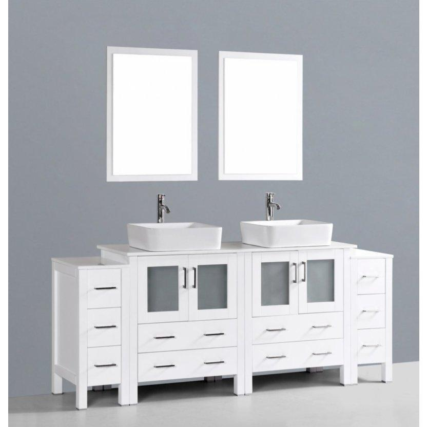 "Bosconi 84"" Double Vanity Bathroom Vanity AW230RC2S"