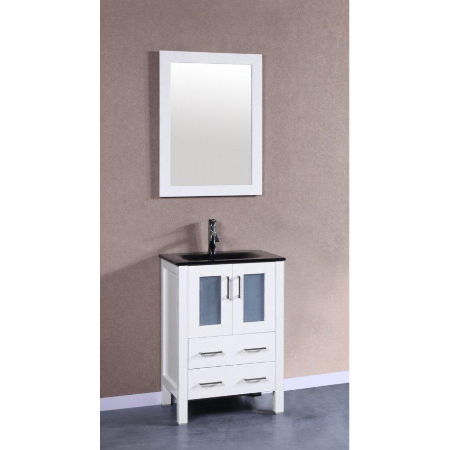 "Bosconi 24"" Single Vanity Bathroom Vanity AW124BGU"