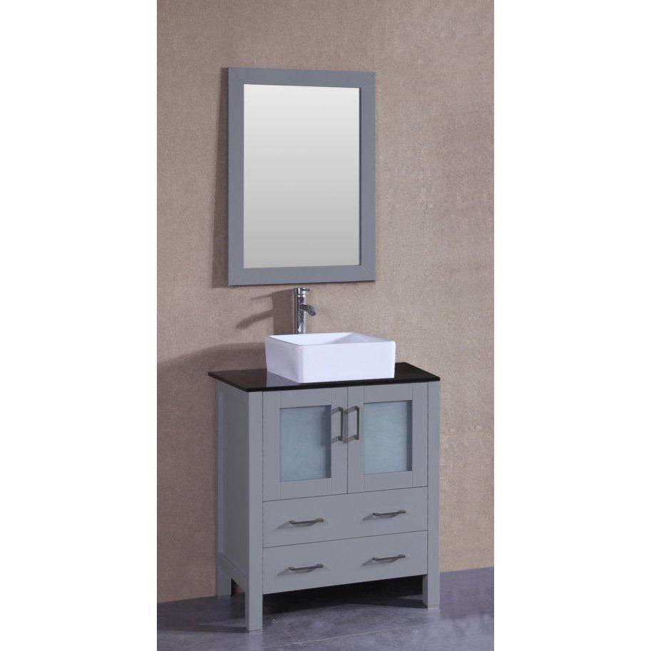 "Bosconi 30"" Single Vanity Bathroom Vanity AGR130CBEBG"