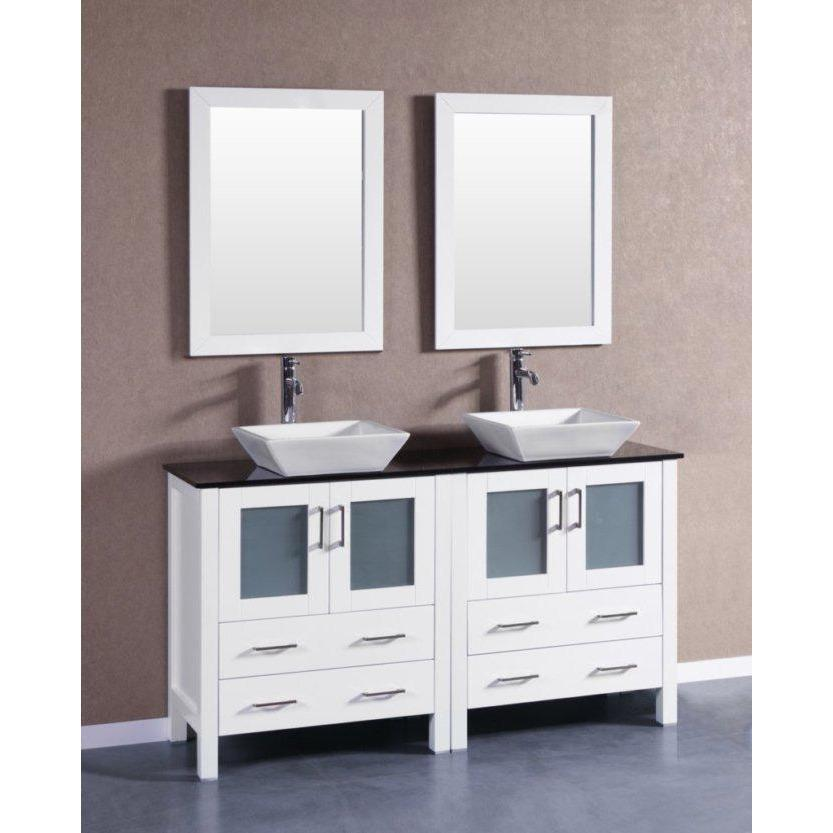 "Bosconi 60"" Double Vanity Bathroom Vanity AW230SQBG"