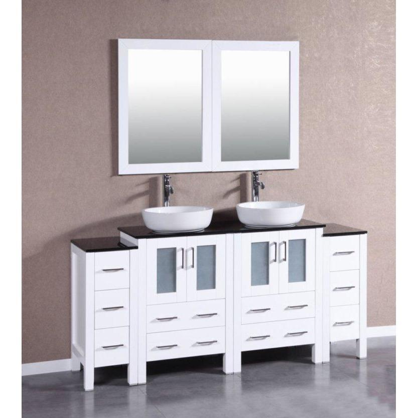 "Bosconi 72"" Double Vanity Bathroom Vanity AW224BWLBG2S"