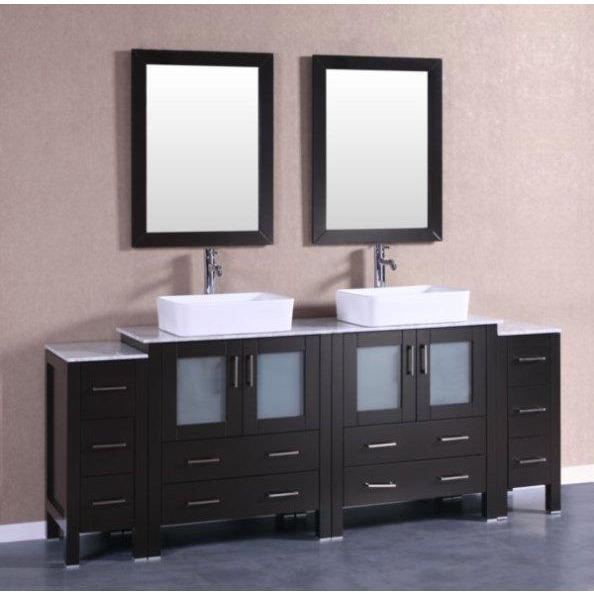 "Bosconi 84"" Double Vanity Bathroom Vanity AB230RCCM2S"