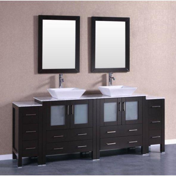 "Bosconi 84"" Double Vanity Bathroom Vanity AB230SQCM2S"