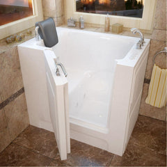 Meditub Walk-In Right Drain Whirlpool-Jetted White Bathtub 2739RWH