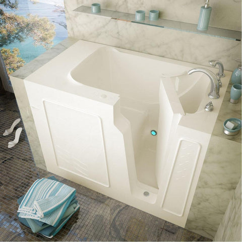 Meditub Walk-In Right Drain Biscuit Soaking Bathtub 2952RBS