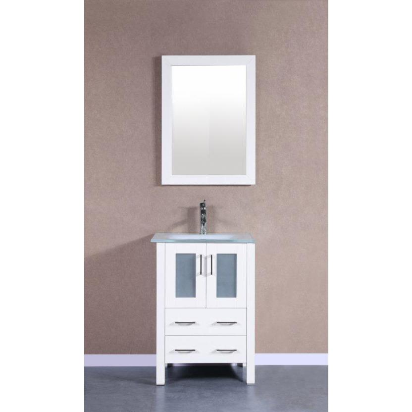 "Bosconi 24"" Single Vanity Bathroom Vanity AW124EWGU"