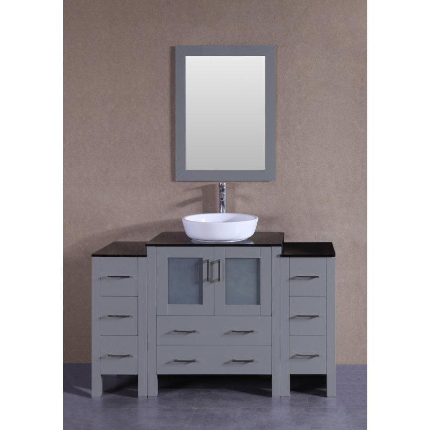 "Bosconi 54"" Single Vanity Bathroom Vanity AGR130BWLBG2S"