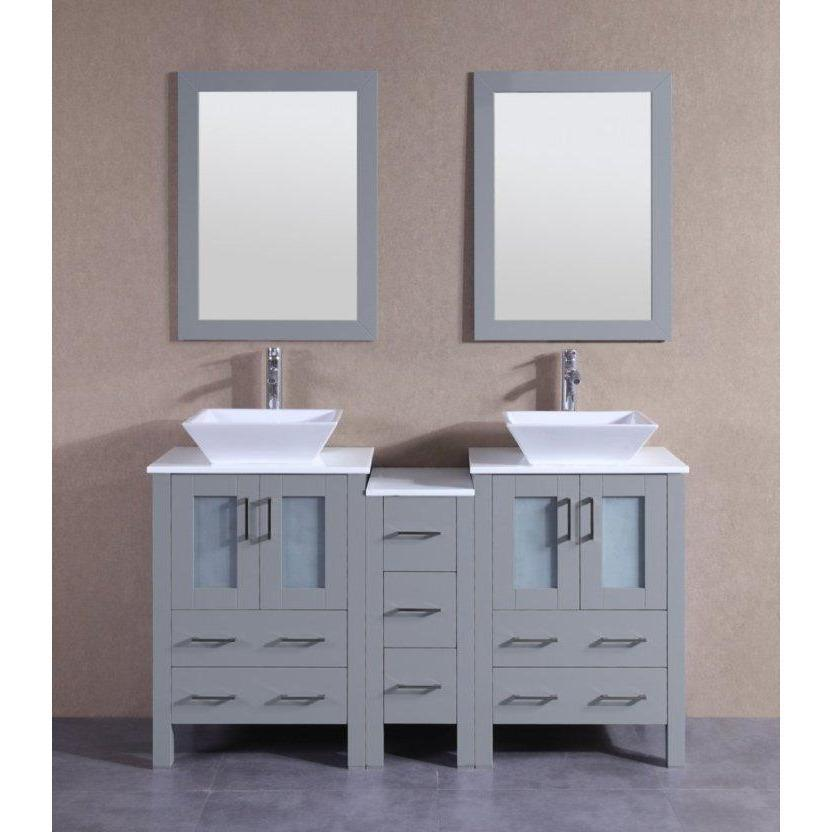 "Bosconi 60"" Double Vanity Bathroom Vanity AGR224S1S"