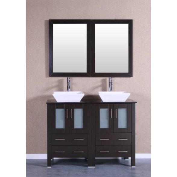 "Bosconi 48"" Double Vanity Bathroom Vanity AB224SQBG"
