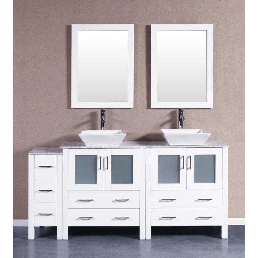 "Bosconi 72"" Double Vanity Bathroom Vanity AW230SQCM1S"