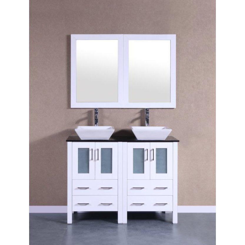 "Bosconi 48"" Double Vanity Bathroom Vanity AW224SQBG"