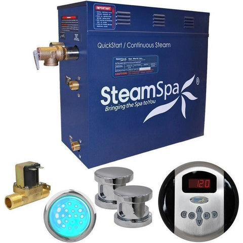 Steam Spa Steam Generators No SteamSpa QuickStart Indulgence 10.5 KW Acu-Steam Bath Generator IN1050CH
