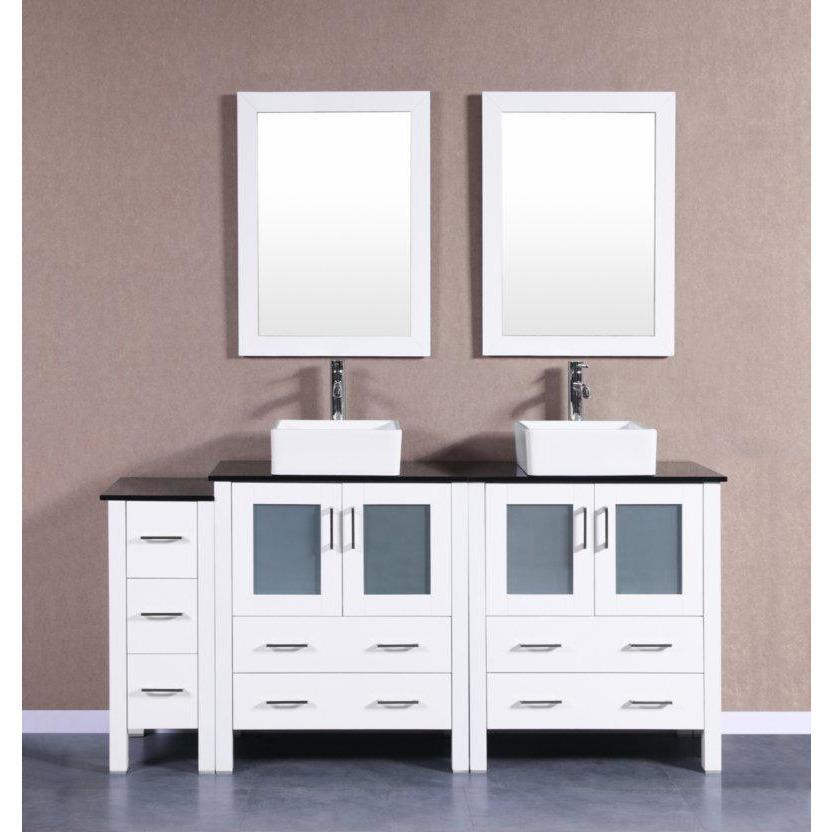 "Bosconi 72"" Double Vanity Bathroom Vanity AW230CBEBG1S"