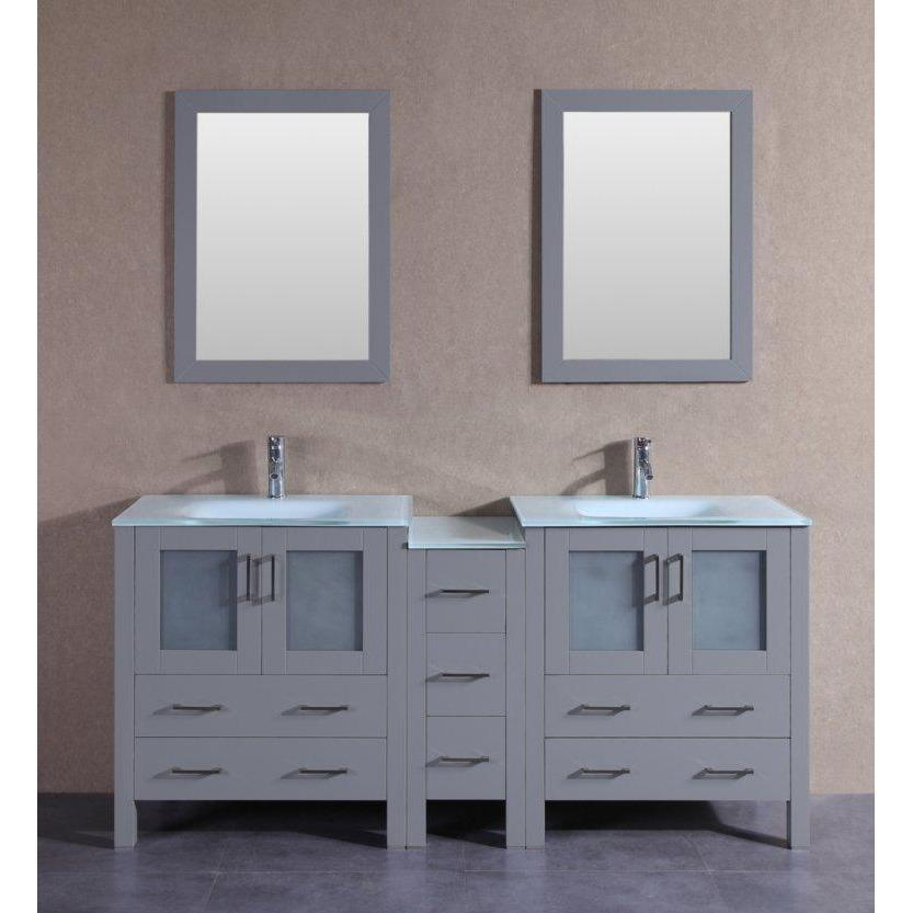 "Bosconi 72"" Double Vanity Bathroom Vanity AGR230EWGU1S"