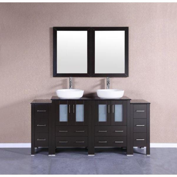 "Bosconi 72"" Double Vanity Bathroom Vanity AB224BWLBG2S"
