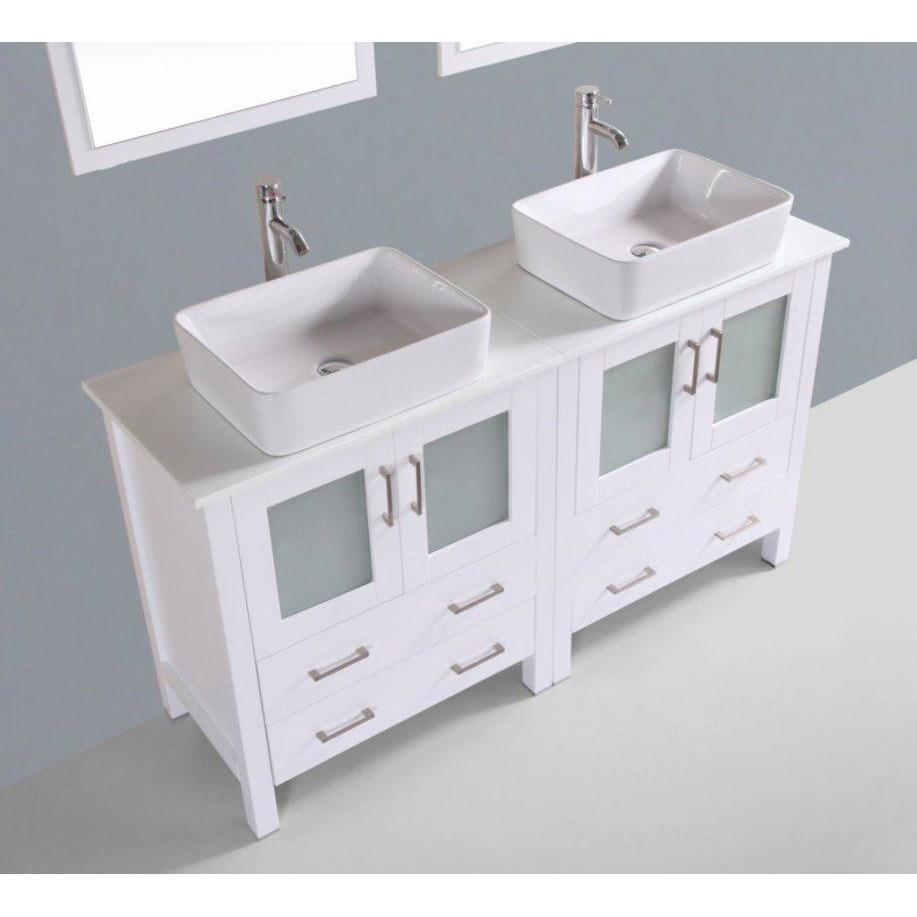 "Bosconi 60"" Double Vanity Bathroom Vanity AW230RC"