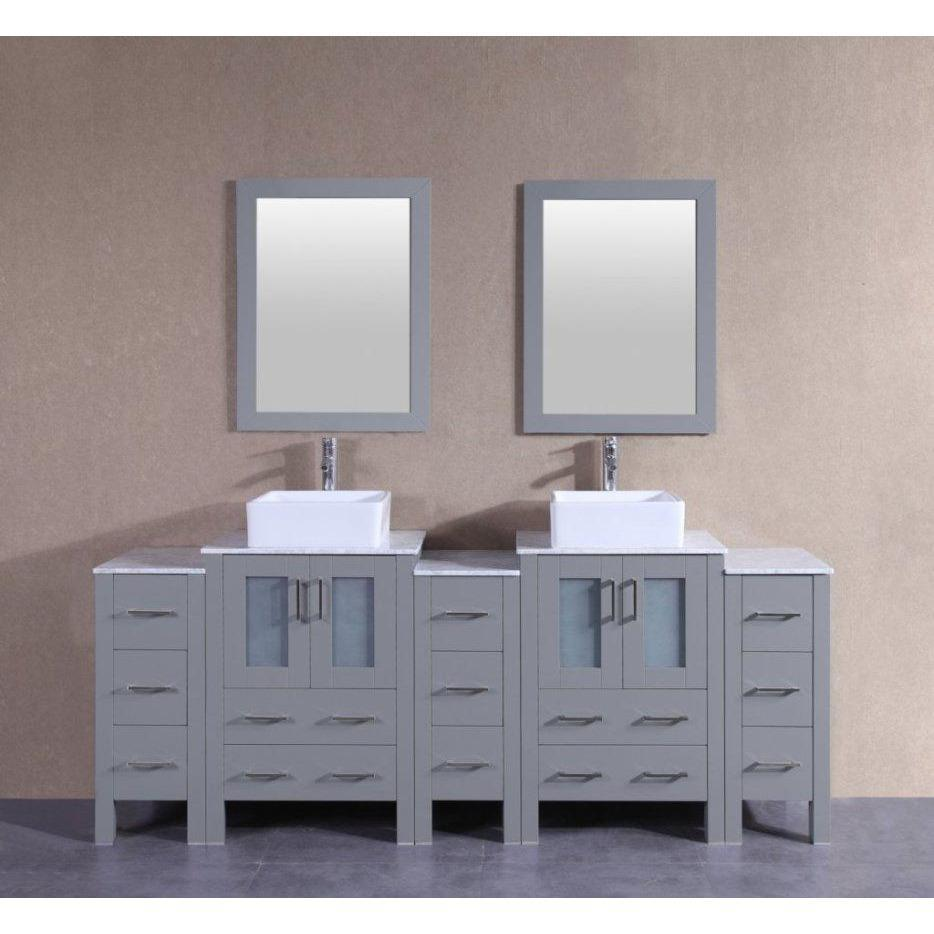 "Bosconi 84"" Double Vanity Bathroom Vanity AGR224CBECM3S"