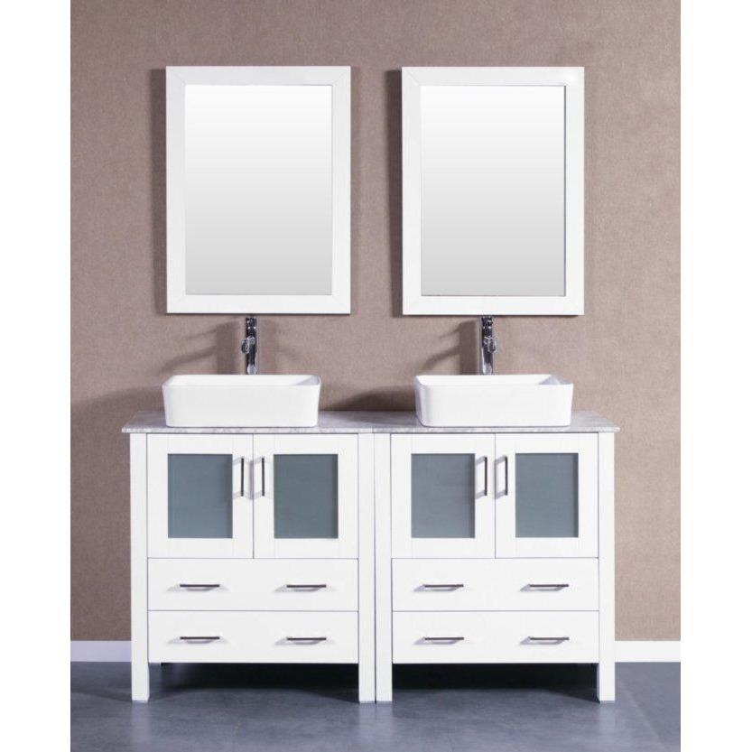 "Bosconi 60"" Double Vanity Bathroom Vanity AW230RCCM"