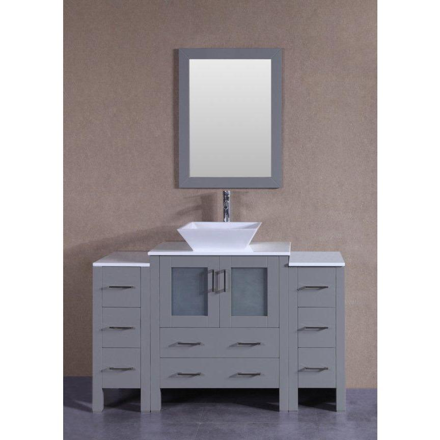 "Bosconi 54"" Single Vanity Bathroom Vanity AGR130S2S"