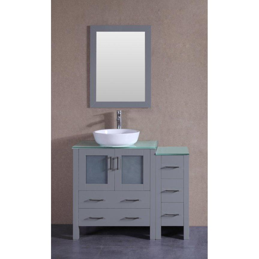 "Bosconi 42"" Single Vanity Bathroom Vanity AGR130BWLCWG1S"