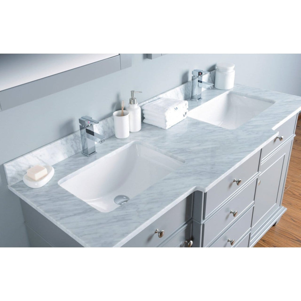 "Bosconi 60"" Double Vanity Bathroom Vanity KGR2060CMU"