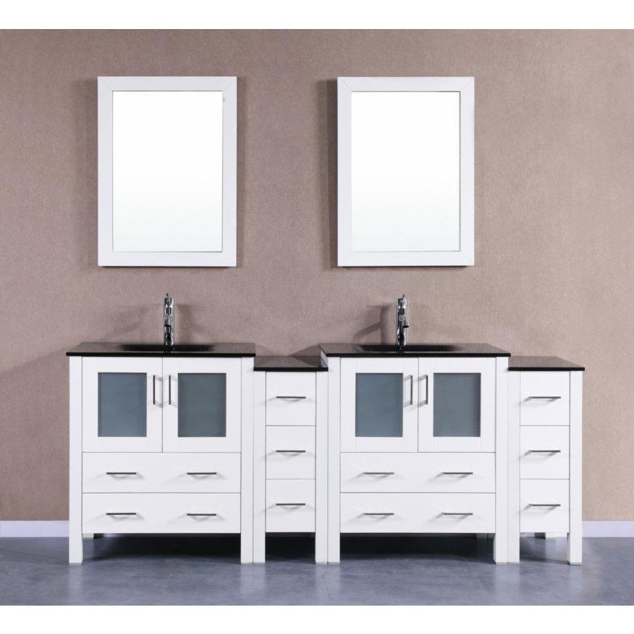 "Bosconi 84"" Double Vanity Bathroom Vanity AW230BGU2S"